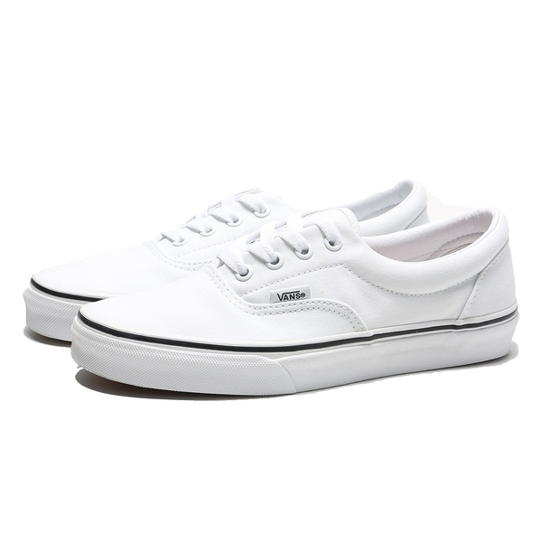VANS 休閒鞋 ERA TURE WHITE 白 黑邊 帆布 板鞋 女(布魯克林) VN000EWZW00