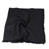 GUCCI LOGO絲羊毛方型流蘇披巾 140*140(黑色)
