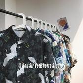 網紅花襯衫男短袖港風復古印花很仙的痞帥夏威夷2020秋季長袖襯衣 夏日專屬價