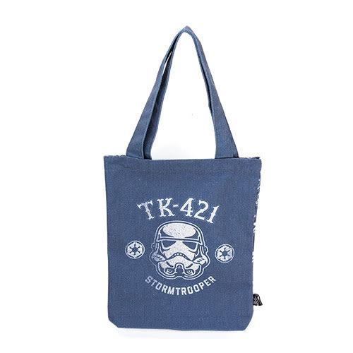 《CHARA PORT》星際大戰復古刷色雙面帆布提包及素描本組(白兵)★funbox生活用品★CP99059