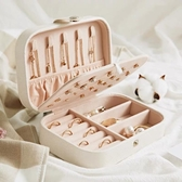 首飾盒 首飾盒小便攜收納盒耳環耳釘首飾飾品盒子項鏈戒指耳飾手飾飾品盒 雙十二 聖誕節