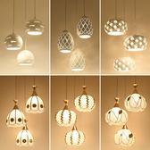 餐廳吊燈三頭led現代簡約個性創意田園過道餐廳燈  igo