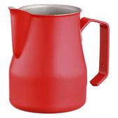 金時代書香咖啡 MOTTA 專業拉花杯 奶泡杯 350ml 紅  HC7092