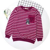 【錢豪童裝童鞋】兔子條紋棉質上衣(130~160cm)
