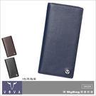 VOVA 沃汎 皮夾 VA104W016  藍色  凱旋系列 14卡 IV紋 薄型長夾  MyBag得意時袋