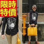長袖襯衫 男上衣-簡單精緻修身夜店典型休閒2色59k19【巴黎精品】