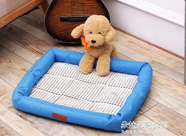 狗窩貓窩天降溫寵物床狗墊子貓咪涼席床泰迪通用冰墊不粘毛  朵拉朵衣櫥