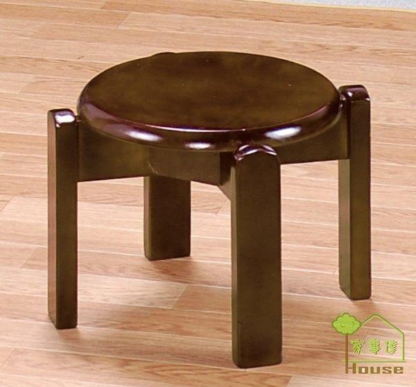 [ 家事達] TMT 多功能實木圓低板凳 (TAR-05A)