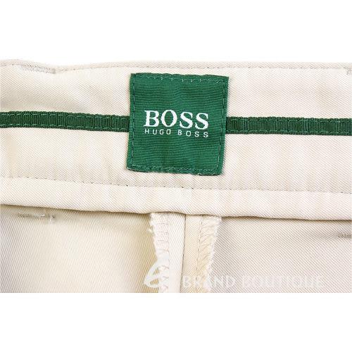 BOSS 綠色車線LOGO抓褶休閒長褲(米色) 0511087-40