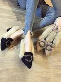 高跟鞋 毛毛鞋女冬外穿秋冬季冬天百搭小清新高跟鞋粗跟單鞋 High酷樂緹