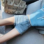 短褲 高腰牛仔短褲女年新款夏季顯瘦潮網紅百搭捲邊修身a字熱褲 街頭