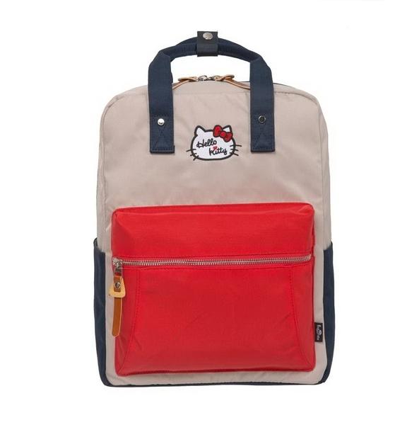 【Hello Kitty】凱蒂學院-方型後背包- 紅藍 FPKT0F001RNG
