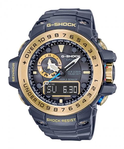 CASIO卡西歐G-SHOCK GPS海洋系列概念電波錶全新黑x金配色(GWN-1000GB-1ADR)56mm