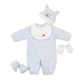 【愛的世界】鋪棉兩用嬰衣禮盒/6個月-台灣製- ★禮盒推薦