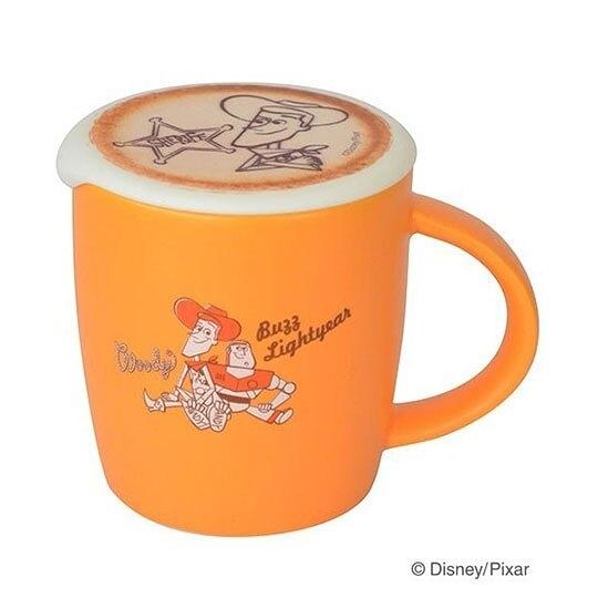 〔小禮堂〕迪士尼 玩具總動員 胡迪 陶瓷馬克杯附矽膠杯蓋《橘棕》370ml.咖啡杯.茶杯 4992831-14351