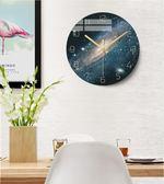 藝術掛鐘北歐圓形創意簡約個性現代時尚家用客廳靜音電子石英時表 夢想生活家