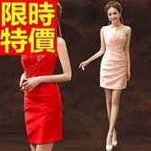 晚宴服-別緻修身單肩短款女晚禮服2色65c33【巴黎精品】