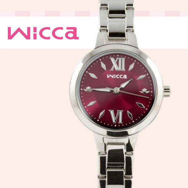 【萬年鐘錶】星辰 CITIZEN Wicca 俏麗多彩系 公主腕錶 艷麗紅錶面 BG3-716-91