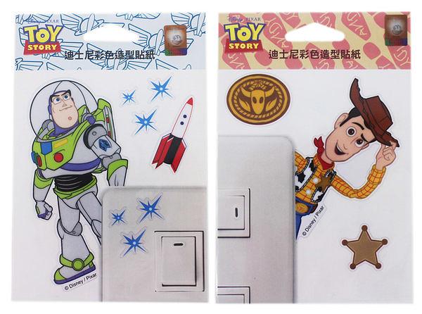 【卡漫城】玩具總動員 彩色造型貼紙 ㊣版 透明 防水 迪士尼 巴斯 胡迪 Buzz Woody 台灣製造 裝飾貼