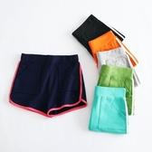 夏季純色運動純棉短褲女鬆緊腰休閒韓版跑步熱褲沙灘褲寬鬆家居褲
