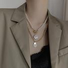 疊戴項鍊巴洛克珍珠疊戴項鍊女輕奢小眾設計感鎖骨鍊2021年新款氣質頸鍊潮 晶彩