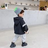 男童外套 秋裝寶寶寬鬆外套正韓男童連帽上衣中小童洋氣蝙蝠袖夾克-Milano米蘭