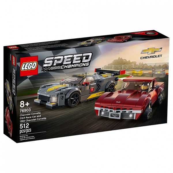 樂高積木 LEGO《 LT76903 》SPEED CHAMPIONS 系列 - Chevrolet Corvette C8.R Race Car and 1968 Chevrolet Corvette