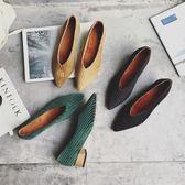 低跟鞋 鞋子女女鞋春小清新高跟鞋尖頭韓版乖乖鞋粗跟單鞋平底冬 傾城小鋪