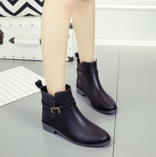雨鞋 2021新款潮流女士雨靴 防滑家用廚房雨鞋工作油脂地買菜雨鞋女 16育心