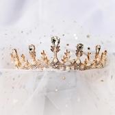 新品兒童皇冠頭飾公主發飾女童皇冠小女孩生日演出發箍主持人王冠金色