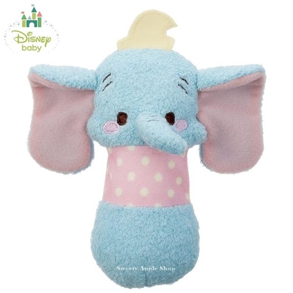 日本限定 Disney Baby 小飛象 嬰幼兒 啾啾按壓有聲玩偶 抓握訓練玩具