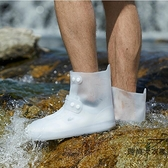 時尚雨鞋防水鞋套戶外輕便男女短筒透明成人雨靴套【時尚大衣櫥】