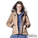 Victoria  連帽貼袋絲棉外套-駝色-V4513573