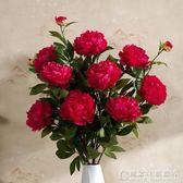3頭高品質仿真牡丹花落地假花客廳擺放花卉絹花仿真花束裝飾花.igo 概念3C旗艦店