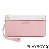 PLAYBOY- 三層式萬用包 甜心女孩 Sunny Cake系列-甜美粉