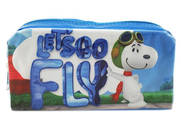 【卡漫城】 Snoopy 方形 筆袋 飛行員 ㊣版 史努比 Peanut 史奴比 萬用包 化妝包 鉛筆盒 萬用袋 收納包