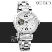 SEIKO 精工 / 4R38-01L0M.SSA807J1 / LUKIA 藍寶石水晶 機械錶 防水100米 不鏽鋼手錶 銀色 34mm