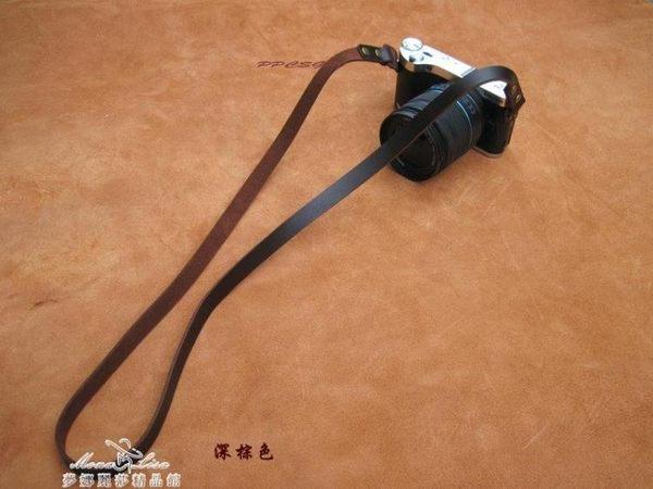 手工\頭層復古單反相機帶\\牛皮相機背帶深棕『夢娜麗莎精品館』