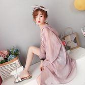 防曬衫女秋季長袖韓版學生寬鬆bf薄開衫外套2018新款時尚外披衣服洋裝  百搭潮品