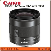 CANON EF-M 11-22mm F4-5.6 IS STM (平輸保固ㄧ年)
