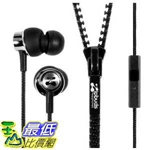 [2美國直購] Zipbuds 拉鍊專利耳機 ZBPMBK PRO mic Zipper Earbuds Mic/Remote, Black _d12dd