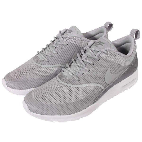 Nike 休閒慢跑鞋 Wmns Air Max Thea TXT Textile 灰 白 氣墊 運動 女鞋【PUMP306】 819639-003