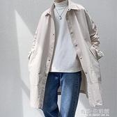 秋季新款風衣男中長款韓版潮流百搭帥氣港風ins寬鬆披風外套 雙十二全館免運