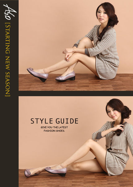 A.S.O 舒適通勤 真皮鉚釘皮帶飾扣奈米楔型跟鞋 淺紫