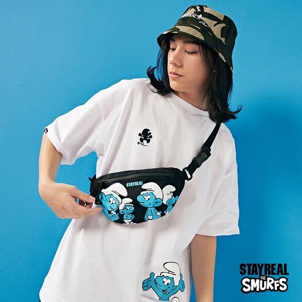 STAYREAL x 藍色小精靈 SMURFS潮流腰包
