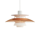 Louis Poulsen PH 5 Suspension Lamp in Copper 50cm 保羅漢寧森 霧面白色系列 標準型 四層次 吊燈 - 紅銅特殊款