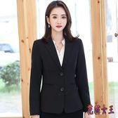 西裝外套 2019新款韓版女裝短款修身休閒港味時尚小西服正裝TA549【花貓女王】