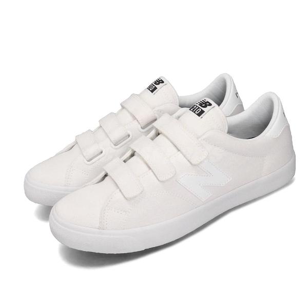 【六折特賣】New Balance 休閒鞋 NB 210 白 黑 男鞋 女鞋 小白鞋 帆布 魔鬼氈 運動鞋 【ACS】 AM210VWUD