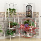 花架陽台鐵藝花盆架子客廳多層內落地式吊蘭花架掛式
