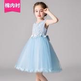 超洋氣女童公主裙夏裝小花童禮服蓬蓬紗裙子中大童超仙連身裙白色